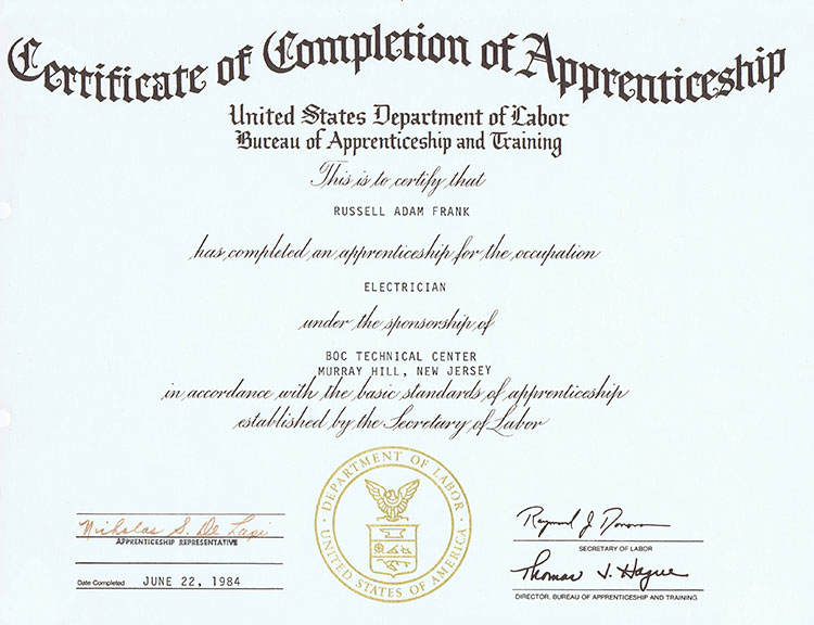 Apprentiship-Completion---Department-Of-Labor-Certificate